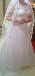 Свадебное платье цвет айвори + фата