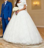 Нежное свадебное платье-цвет Айвори.