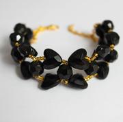 Плетёный браслет Чёрная орхидея