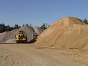 Песок любой фракции с доставкой от 1 тонны