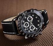 Продам мужские часы Rolex новые с кожаным ремешком