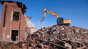 Демонтаж зданий,  хоз. построек,  полов и стен