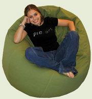 кресло-мешок зеленого цвета